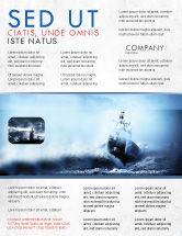 Nature & Environment: Sea Storm Flyer Template #04842