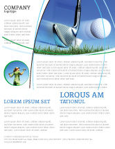 Sports: Slight Bump In Golf Flyer Template #04845