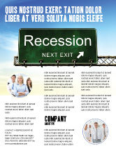 Financial/Accounting: Recession Flyer Template #04847