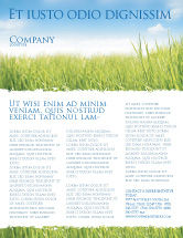 Nature & Environment: Green Grass Under Blue Sky Flyer Template #04885