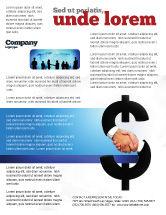 Business Concepts: Modelo de Folheto - troca de moeda #04911