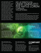Global: Web Over The Earth Flyer Template #04970
