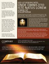 Religious/Spiritual: Holly Book Flyer Template #04995