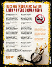 Medical: Modelo de Folheto - mortes por fumar #05004