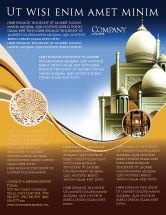Religious/Spiritual: Modelo de Folheto - arquitetura islâmica #05013