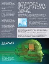 Technology, Science & Computers: Modello Volantino - Epoca di alta tecnologia #05057