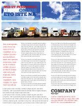 Cars/Transportation: Trucks Flyer Template #05080
