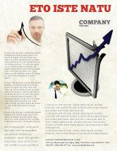 Financial/Accounting: Modelo de Folheto - diagrama de subida #05204