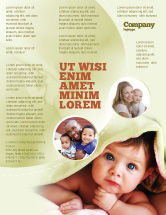 People: Baby Under Blanket Flyer Template #05234