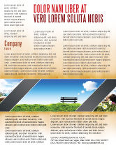 Nature & Environment: Bank Flyer Vorlage #05275
