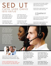 Careers/Industry: Telecoms Operator Flyer Template #05311