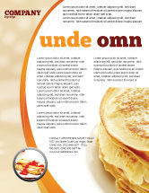 Food & Beverage: Pfannkuchen Flyer Vorlage #05343