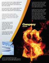 Financial/Accounting: Flaming Dollar Flyer Template #05347