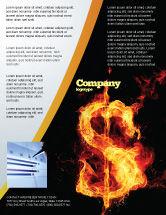 Financial/Accounting: Modelo de Folheto - dólar flamejante #05347