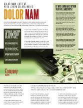 Financial/Accounting: Modelo de Folheto - dinheiro e armas #05349