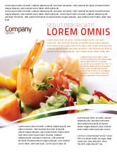 Food & Beverage: Modelo de Folheto - camarão #05355