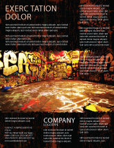 Art & Entertainment: Graffiti-zone Flyer Vorlage #05376