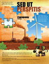 Nature & Environment: Wind Energy Versus Coal Plant Flyer Template #05385