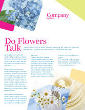 Careers/Industry: Table Bouquet Flyer Template #05406