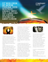 Religious/Spiritual: Bible With Holy Dove Flyer Template #05408