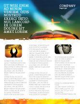 Religious/Spiritual: Modelo de Folheto - bíblia com pomba sagrada #05408