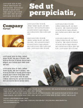 Legal: Masked Man Flyer Template #05417
