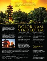 Flags/International: Modelo de Folheto - pagode #05428