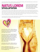 Religious/Spiritual: Modelo de Folheto - compartilhando amor #05472