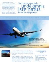 Cars/Transportation: Modern Plane Flyer Template #05474