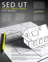 Careers/Industry: House Draft Flyer Template #05541