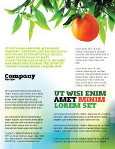 Agriculture and Animals: Orange Tree Flyer Template #05547