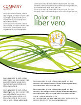 Abstract/Textures: Green Fibers Flyer Template #05553