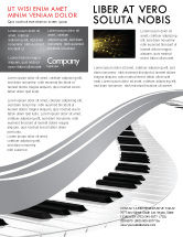 Careers/Industry: Piano Flyer Template #05616