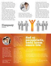 Careers/Industry: Orange Winner Flyer Template #05622