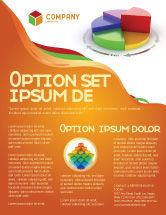 Consulting: 3D Pie Diagram Flyer Template #05649