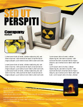 Military: Nuclear Fuel Flyer Template #05708