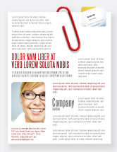 Business: Büroklammer Flyer Vorlage #05715
