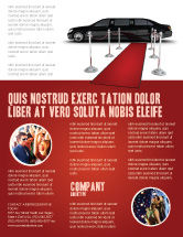 Art & Entertainment: Limousine Flyer Template #05720