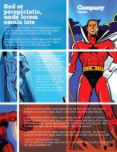 Art & Entertainment: Superheroes Flyer Template #05738