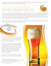 Food & Beverage: Modelo de Folheto - cálice de espuma de cerveja #05748