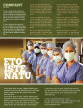 Medical: Medical Personnel In Hospital Flyer Template #05749