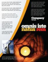 Religious/Spiritual: Modelo de Folheto - vela nas mãos #05771