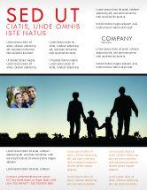 People: Modelo de Folheto - caminhada da família #05802