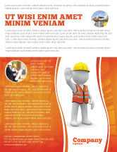 Construction: Symbolic Figure Of A Builder Flyer Template #05877