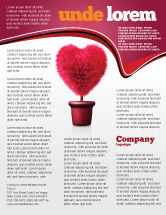 Careers/Industry: Fuchsia Heart Flyer Template #05917