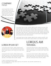 Consulting: Silver Puzzle Flyer Template #05940