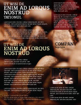 Food & Beverage: Coffee Beans In Brown Color Flyer Template #05941