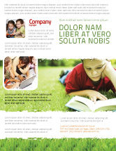 Education & Training: Lesen auf sommerferien Flyer Vorlage #05977