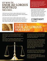 Legal: Justice Symbol Flyer Template #05997