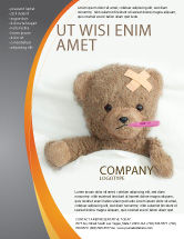 Medical: Wounded Teddy Bear Flyer Template #06030